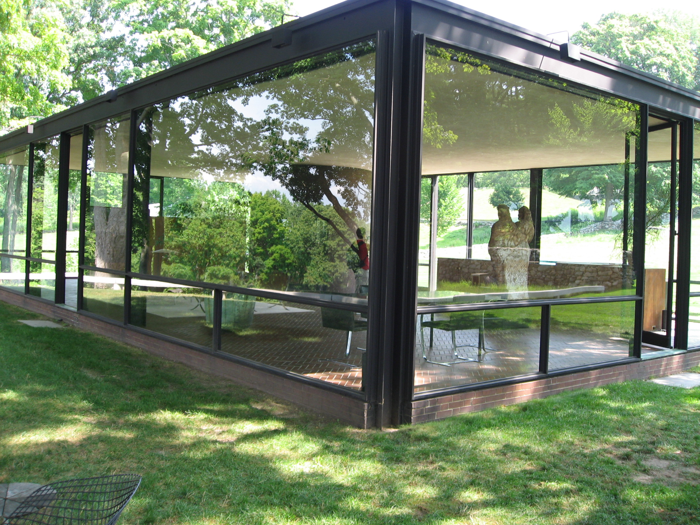 Glass house by philip johnson architecture april a austin
